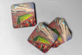 new anfield Coaster set of four